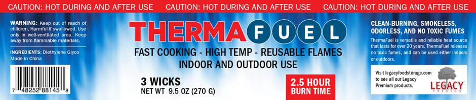 Therma Fuel Label