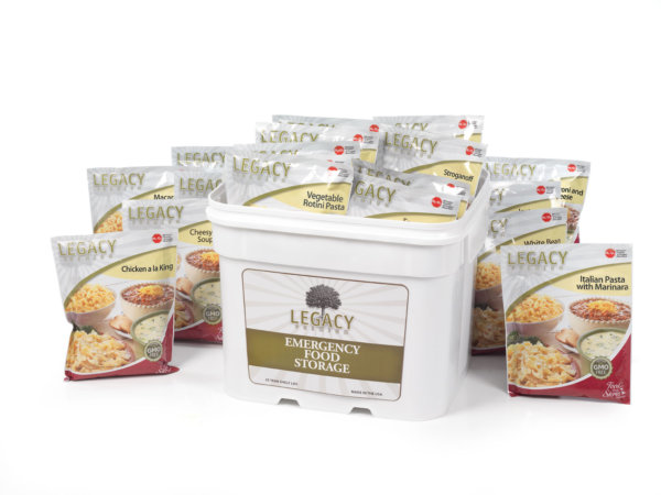 120 Serving Breakfast, Lunch and Dinner Bucket