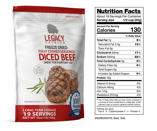 long term freeze dried beef