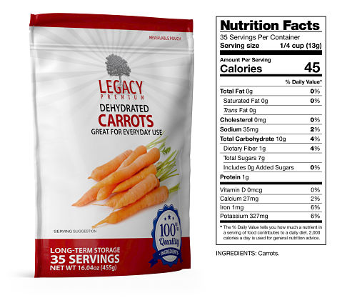 freeze dried carrots