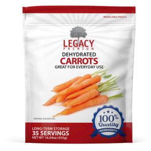 freeze dried carrots