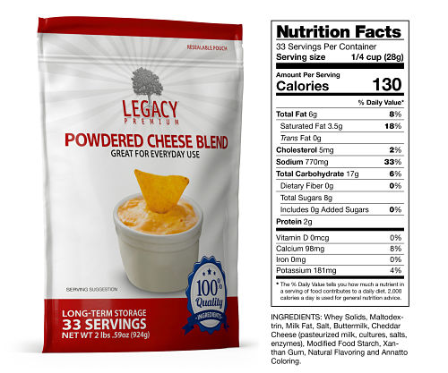 cheese blend long lasting food