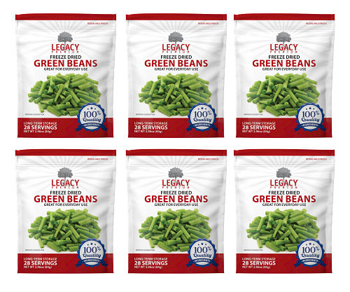 freeze dried green beans