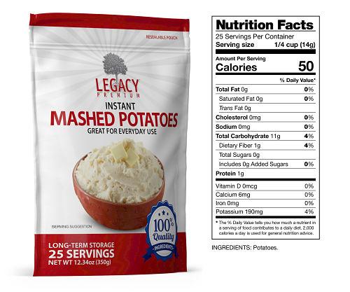 Long-lasting mashed potatoes