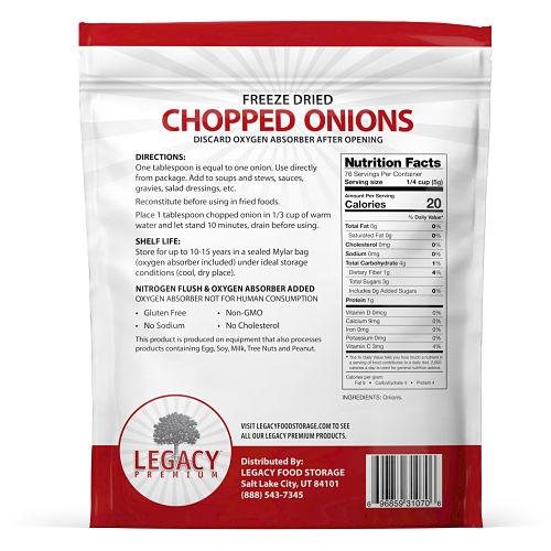 freeze dried onions