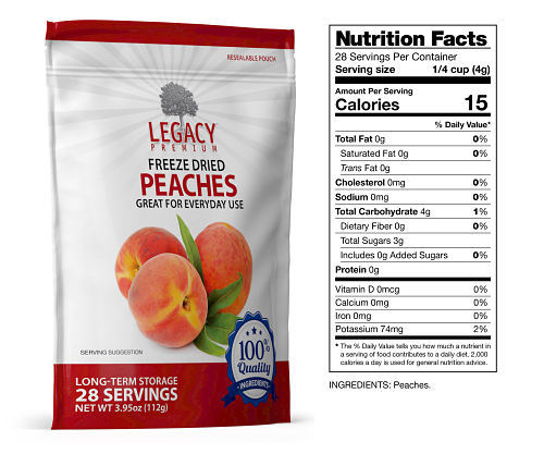 freeze dried peaches