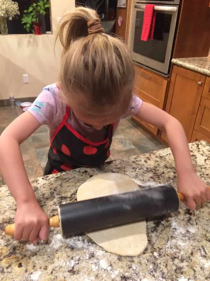 Rolling out the dough for pie