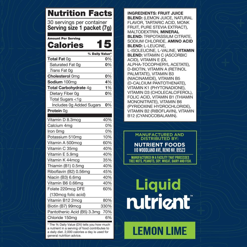 Liquid Nutrient - Lemon Lime