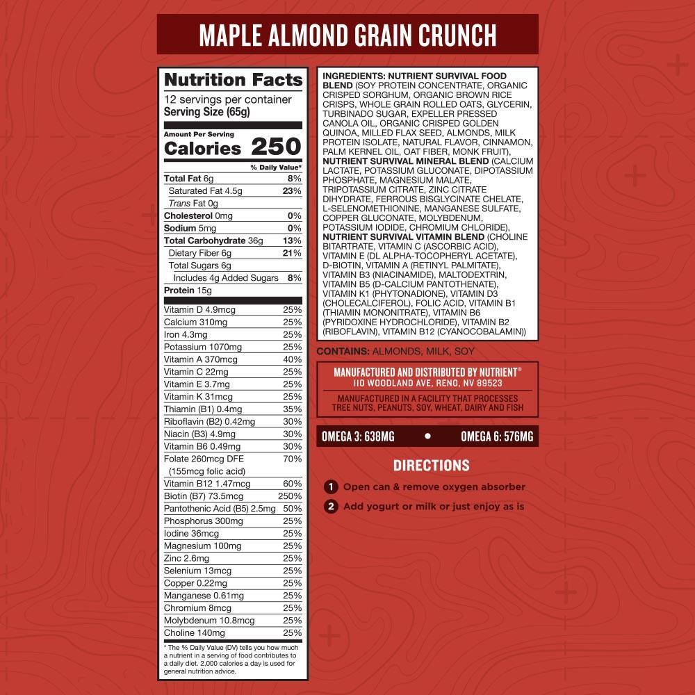 Maple Almond Grain