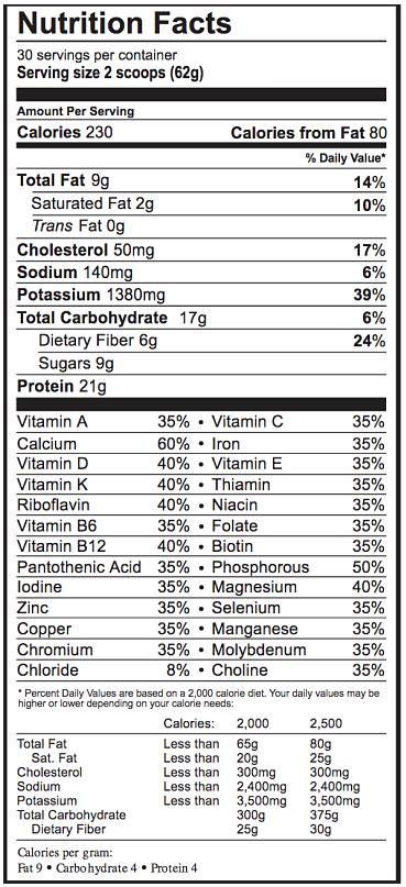 Vanilla Nutritional Milkshake