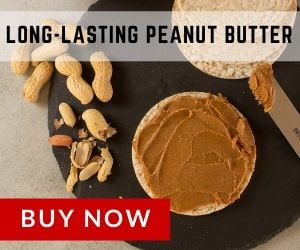 Long-lasting peanut butter