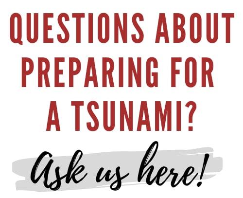 Prepare for a tsunami