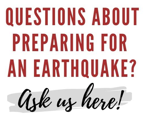 Prepare for earthquake