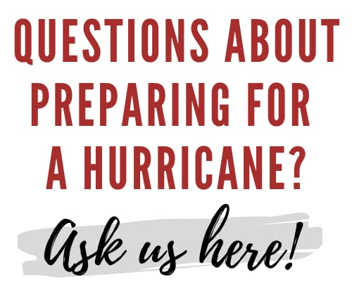 Prepare for a hurricane