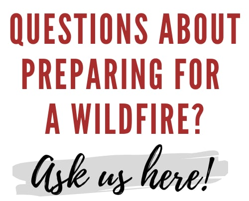 Prepare for a wildfire